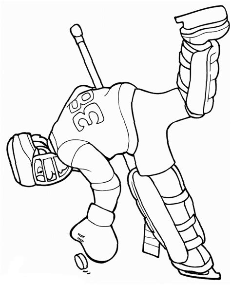 hockey player coloring pages    print