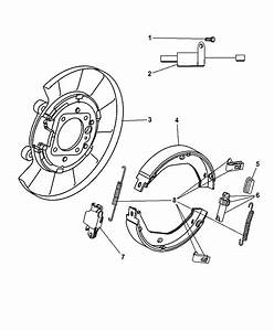 2001 Jeep Grand Cherokee Rear Disc Parking Brake Assembly