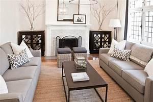 Salon Gris Blanc : tapis sisal pour le salon contemporain conseils et photos ~ Dallasstarsshop.com Idées de Décoration