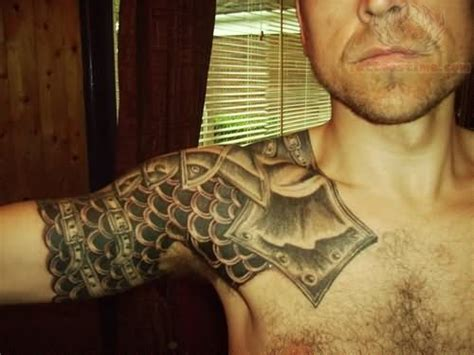 viking shoulder armor tattoo