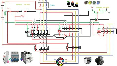 Starter Wiring Connection Diagram by 3 Phase Two Speed Motor Wiring Diagram Electrical