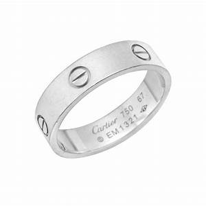 Estate Cartier Men39s 18k White Gold QuotLovequot Wedding Band
