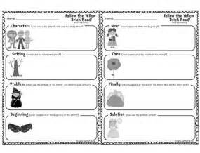 Story Retelling Graphic Organizers Printable