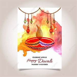 watercolor, diwali, poster, template, for, free, download, on, pngtree