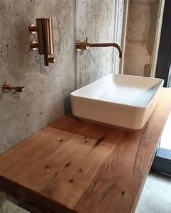 Holz Im Bad : waschtischplatte aus holz waschtisch aus eichenholz ~ Lizthompson.info Haus und Dekorationen