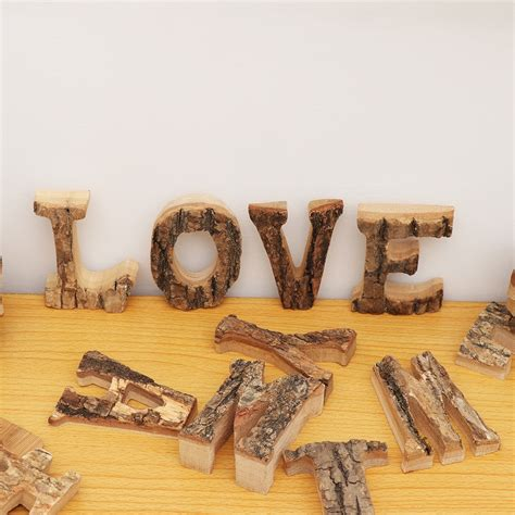 diy wooden letters crafts alphabet art decoration