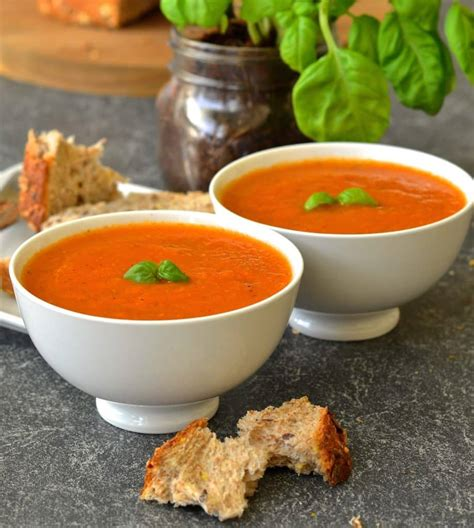 Cbell S Tomato Soup by 10 Minute Easy Tomato Basil Soup Dairy Free Vegan A
