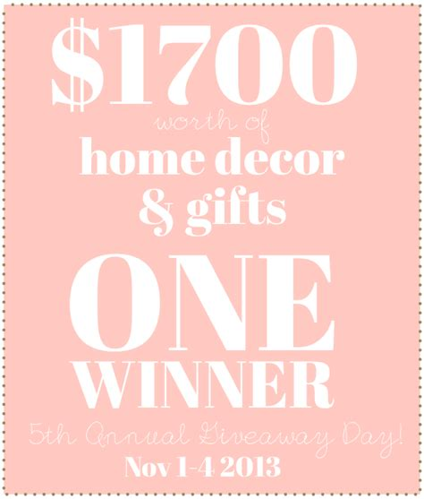 Giveaway Day  One Grand Prize