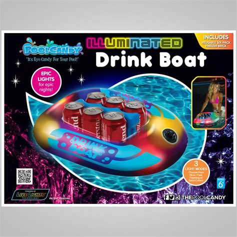 Illuminated Boat by Illuminated Drink Boat Cooler The Green