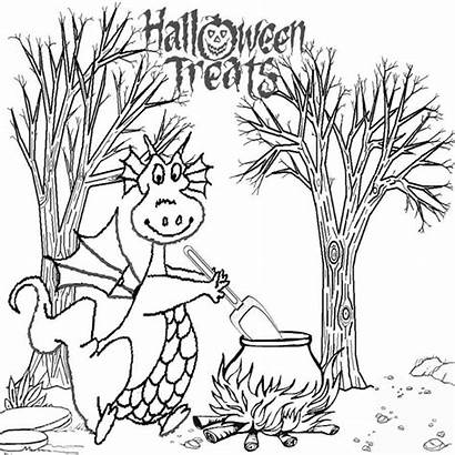 Coloring Halloween Dragon Pages Adults Printable Ghost