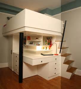 Loft Bed with Small Space Bedroom Design Ideas
