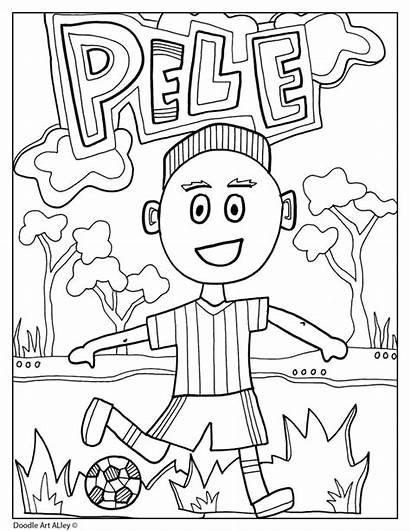 Heritage Month Hispanic Pele Coloring Classroomdoodles Doodles