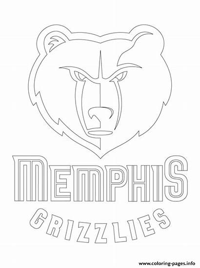 Memphis Coloring Grizzlies Nba Lakers Pages Printable
