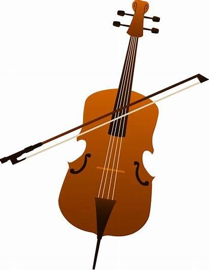 Cello Clipart Clip Bass Cartoon String Violoncello