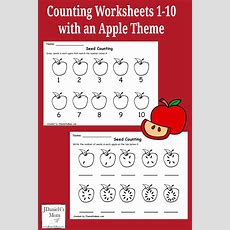 Counting Worksheets 110 With An Apple Theme