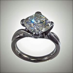 Moissanite palladium ring boston custom jewelry for Palladium wedding ring