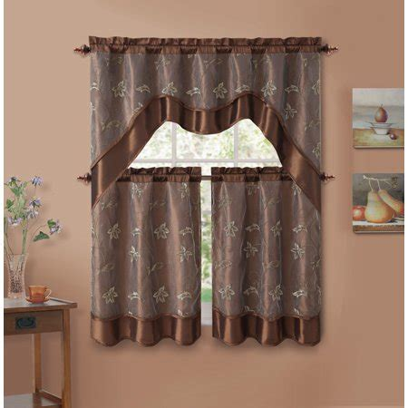 piece chocolate brown double layer leaf embroidered