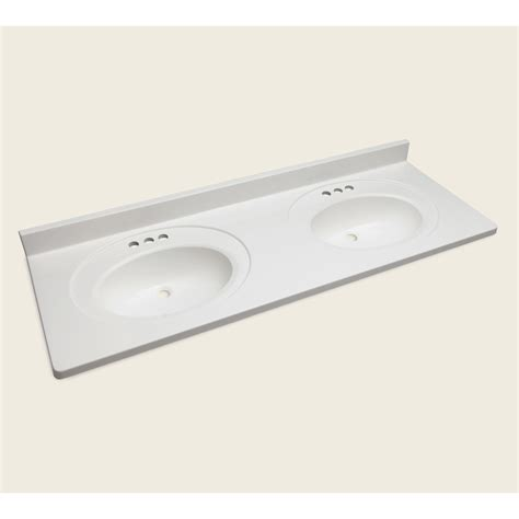 vanity top no sink shop style selections vanity white cultured marble