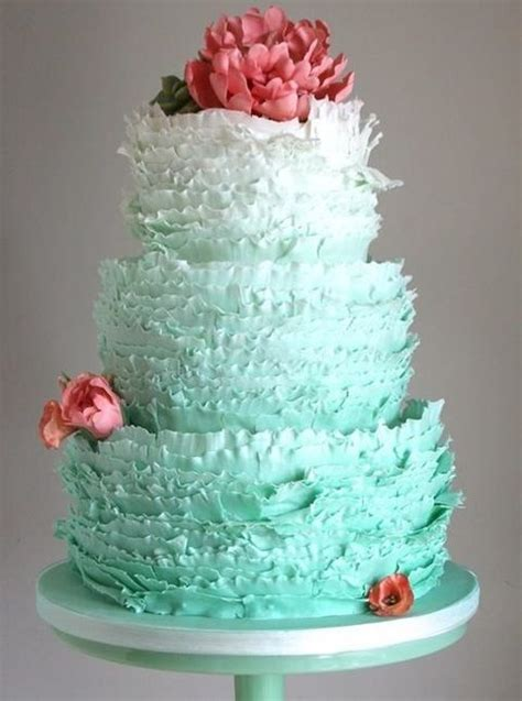 54 Cute Ruffle Wedding Cakes To Excite You   HappyWedd.com