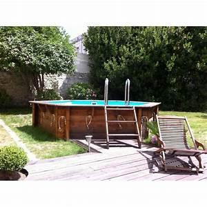 Piscine Bois Ubbink : piscine bois azura 410 h120cm liner bleu b che ~ Mglfilm.com Idées de Décoration