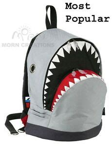 shark backpack large morn creations great white grey week killer whale ebay
