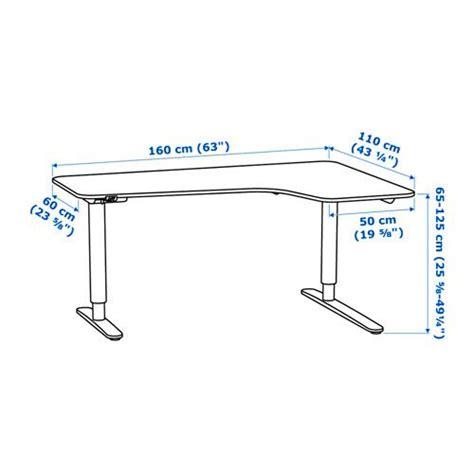 bureau pin blanc bekant bureau d 39 angle dr assis debout plaqué bouleau