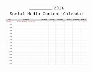 3 free monthly content marketing calendars printable With social media planning calendar template