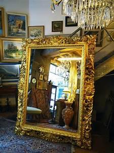 Grand Miroir Baroque : grand miroir baroque italien en bois sculpt dor 19 me miroirs ~ Teatrodelosmanantiales.com Idées de Décoration