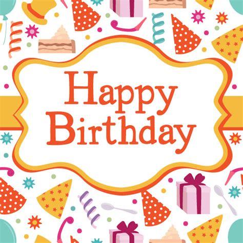 birthday card design birthday card vector material free vectors