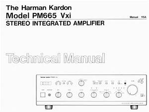Harman Kardon Pm665 Vxi Technical Manual  Analog Alley Manuals