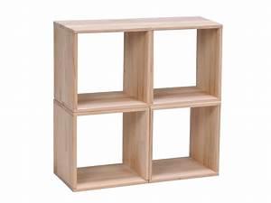 Caisson Bibliotheque Modulable : etag re cube en h tre massif personnalisable l36cm nolan ~ Edinachiropracticcenter.com Idées de Décoration