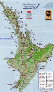 New Zealand North Island Map