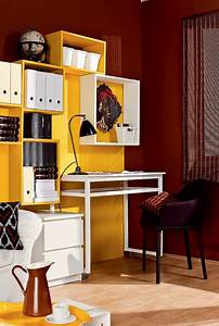 57 cool small home office ideas digsdigs for Home office in living room