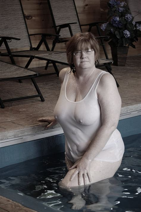 Saggy Matures Proudly Wearing See Thru Mature Porn Photo