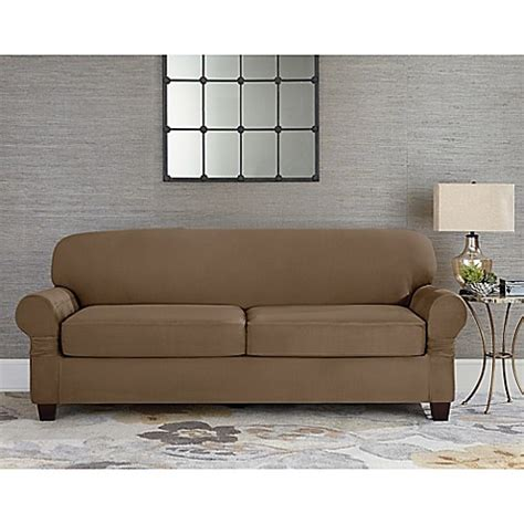 fit designer suede individual cushion  seat sofa