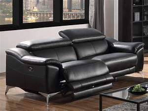 canape et fauteuil relax electrique cuir daloa 2 coloris With tapis de marche avec canape blanc relax
