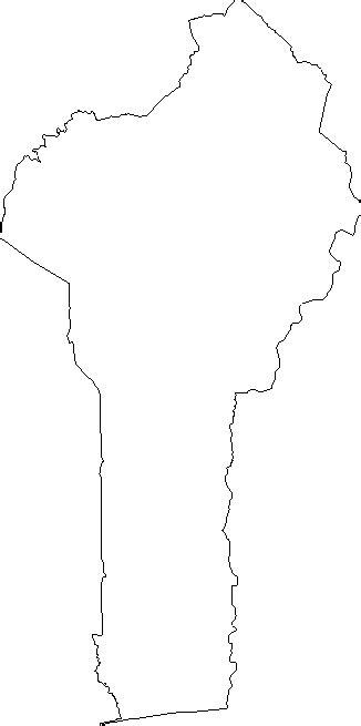 blank outline map  benin