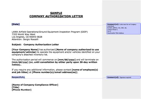 sample company authorization letter httpresumesdesign