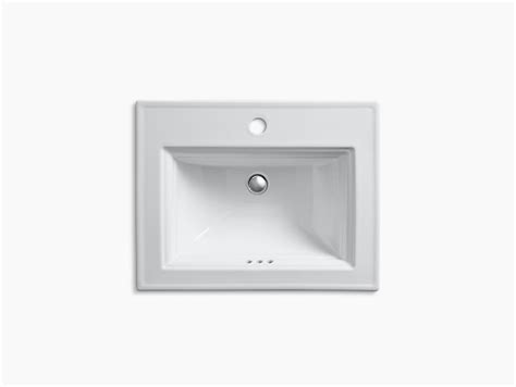 Drop In Bathroom Sink Without Faucet Holes by Memoirs Drop In Sink With Stately Design And Single