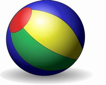 Beach Clip Ball Beachball Clipart Cartoon Clker