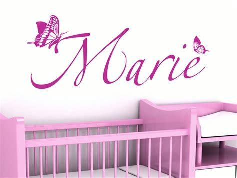 Wandtattoo Kinderzimmer Mädchen Name by Wandtattoo Kindername Mit Schmetterlingen Wandtattoo