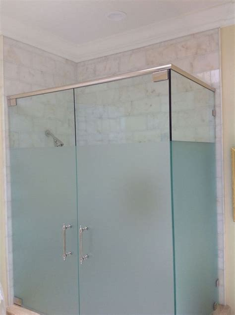 upstairs bathroom frosted glass shower door