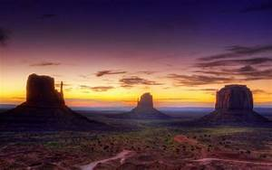 Monument, Valley, Arizona, Usa, Usa, Desert, Canyon, Sunset, Evening, Sky, Landscap, Wallpapers
