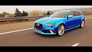 Wrapstyle U2122 - Blue Chrome Audi Rs6 Joker    Car Wrapping