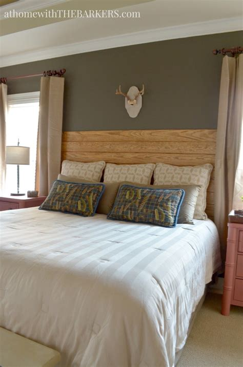 Master Bedroom Decorating Ideas On A Budget - rustic wood bed frame diy