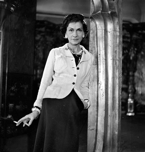 coco chanel famous french fashion design smoking photo