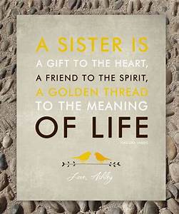 sisters gift print personalized gift for your sister With good wedding gifts for sister