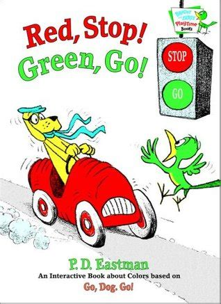 red stop green   interactive book  colors  p