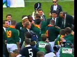 1995 Rugby World Cup Final post game and trophy ...
