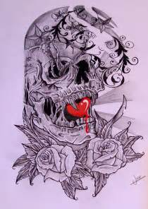 Skull Half Sleeve Tattoo Designs Drawings
